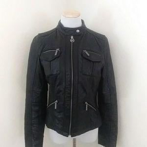 Michael Kors Leather Jacket Size Medium